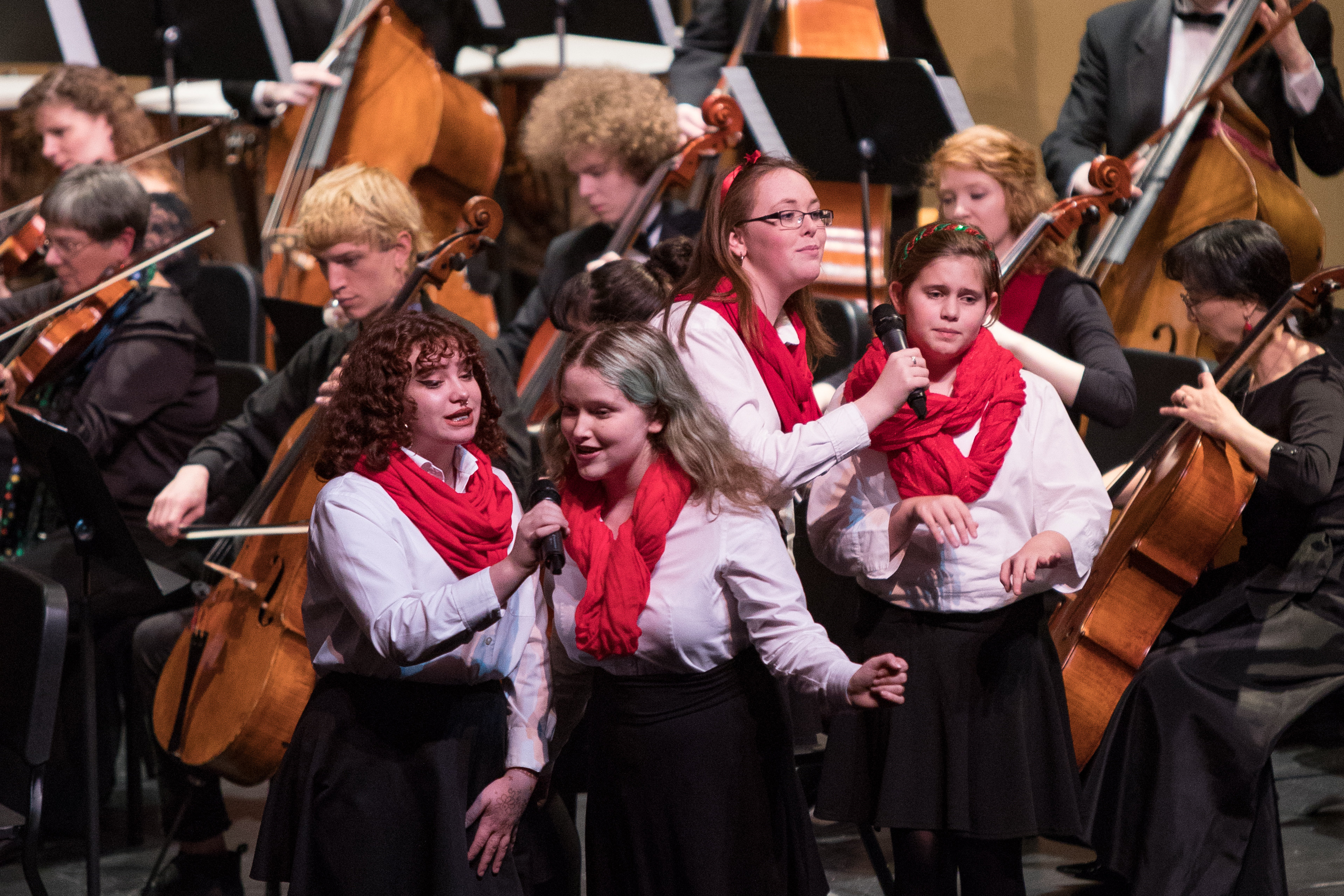 Musicians performing at SPSCC's orchestra concert