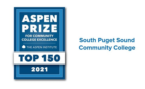 The Aspen Institute 2021 top 150 college badge