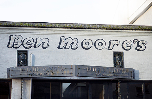An exterior view of Ben Moore's