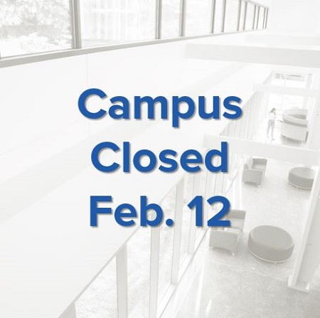 Campus closed Feb. 12