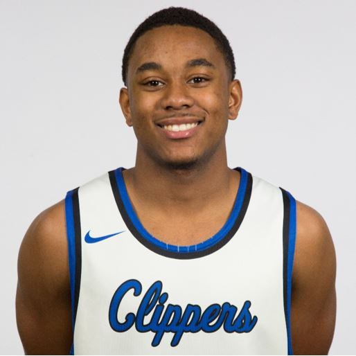 Head shot of Cacoa Chatman in his Clippers uniform