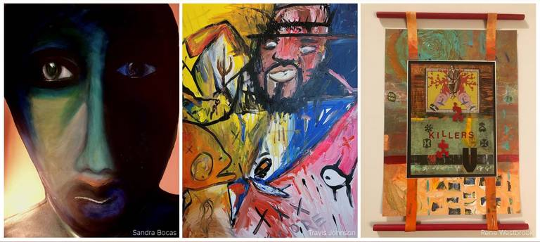 Images of three paintings