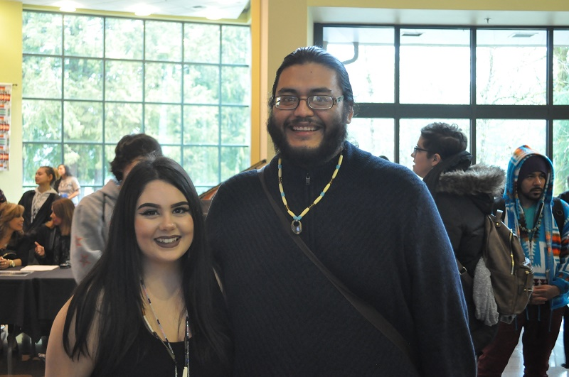 Two smiling students at 2017 FIRE Summit event