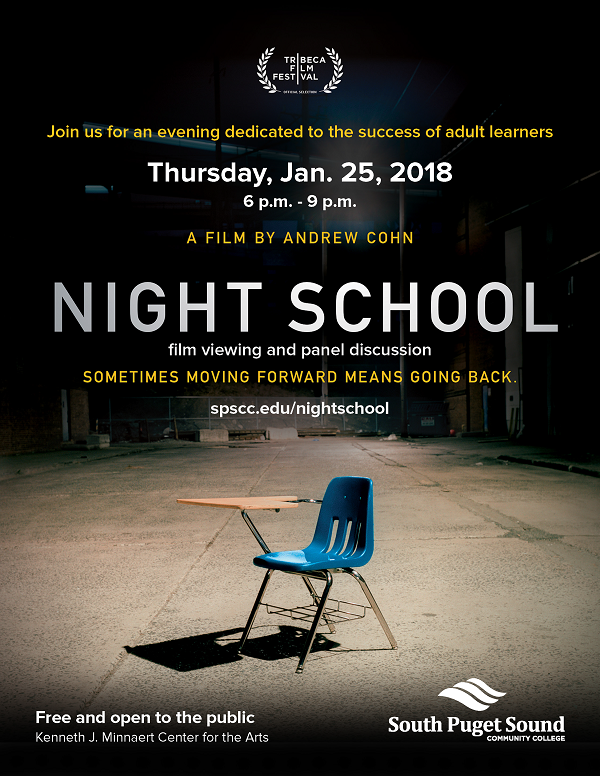 Night School film and event poster