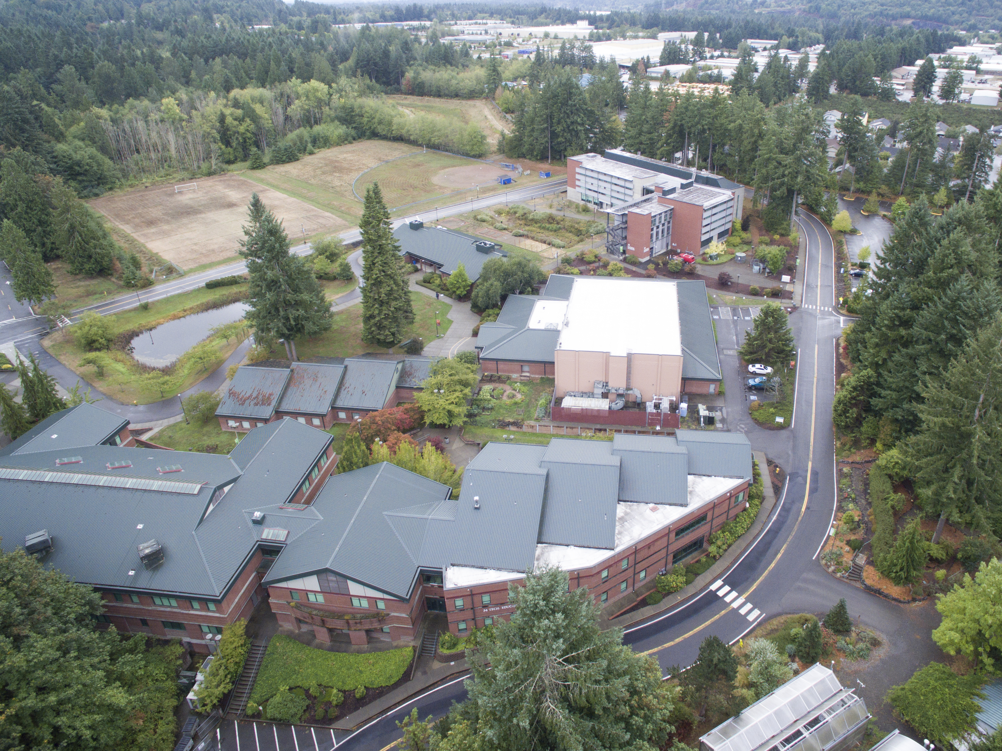 An aerial view of SPSCC's Olympia campus