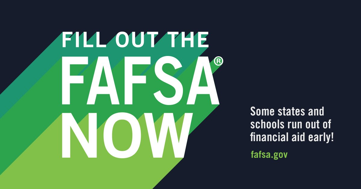 Graphic with details about filling out the FAFSA