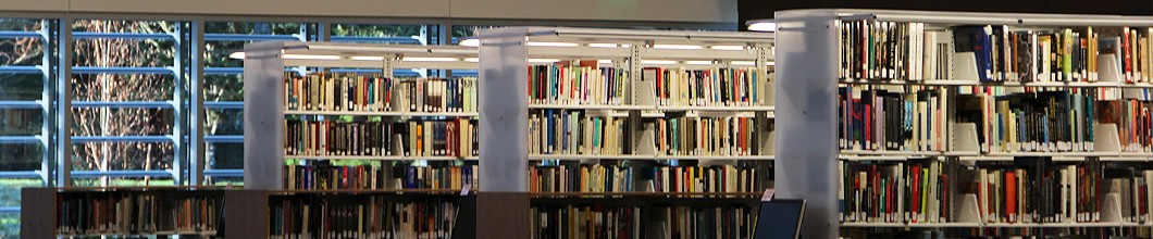 bookshelves in the SPSCC library
