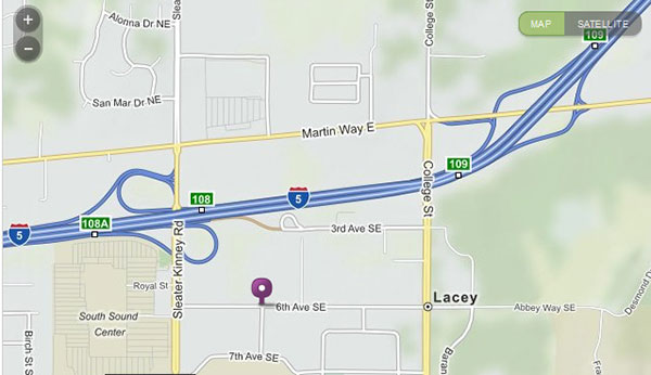 Lacey Campus Map