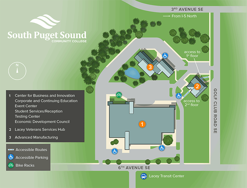 Spscc Campus Map Maps & Directions | South Puget Sound Community College