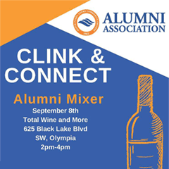 Clink and Connect Alumni Mixer, September 8