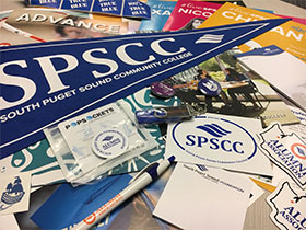 various SPSCC swag items