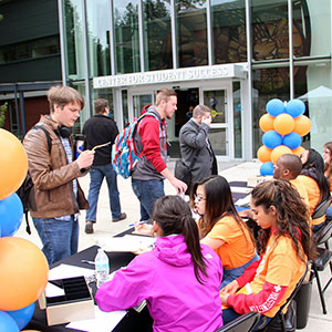 Student event on campus
