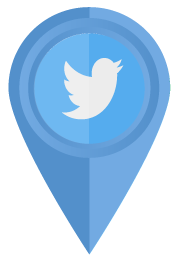 twitter icon map marker
