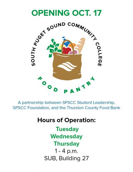 Food pantry info poster