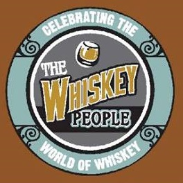 Logo for The Whiskey People, circular shaped with a tagline that says Celebrating the World of Whiskey