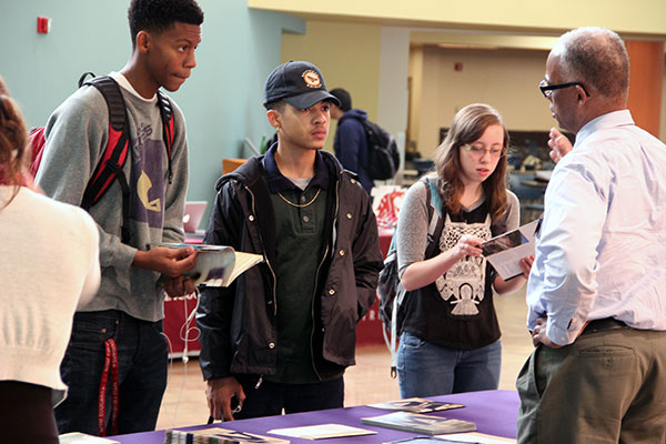 students at transfer fair