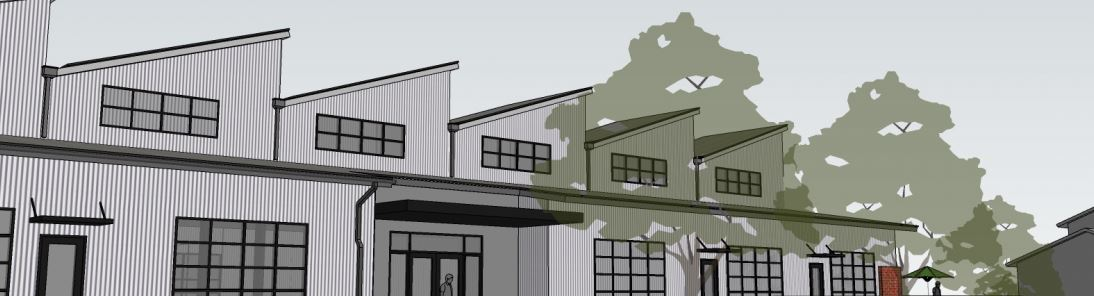 An architect's rendering of the upcoming brewery